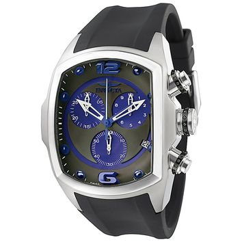 Invicta 6101 Men's Lupah Revolution Chronograph Charcoal Dial Rubber Strap Watch