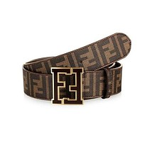 FENDI Popular Ladies Men Casual Smooth Buckle Belt Leather Belt