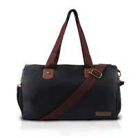 Mens Black/brown Duffel Travel Bag