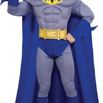 Men's Costume: Batman Brave Deluxe/Muscle | Large