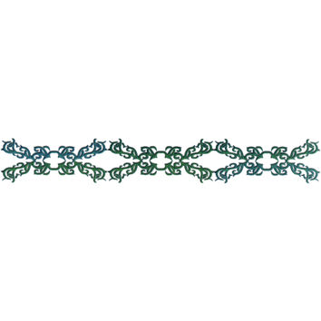 TRIBAL EMERALD DESIGN Arm Band Temporary Tattoo 1.5x9
