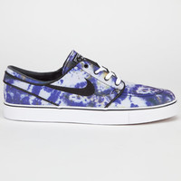 Nike Sb Zoom Stefan Janoski Pr Qs Mens Shoes White/Black/Deep Royal Blue  In Sizes