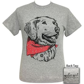 Girlie Girl Originals Preppy Bandana Retreiver Grey T-Shirt