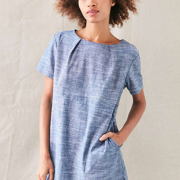 Urban Renewal Remade Back Pleat Shift Dress - Urban Outfitters
