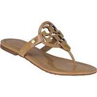 Tory Burch Miller Thong Sandal Sand Patent - Jildor Shoes, Since 1949