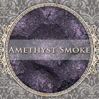 AMETHYST SMOKE Mineral Eyeshadow: 5g Sifter Jar, Smokey Dark Purple, Natural Cosmetics, Shimmer Eye Shadow