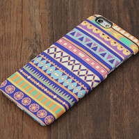 Aztec Blue and Yellow Design iPhone 6s Case/Plus/5S/5C/5/4S Protective Case #739