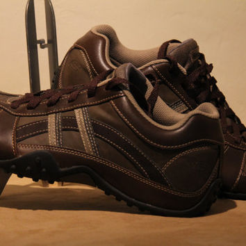 Brown Leather Urban Track Browser Mens Skechers 9.5 Shoes