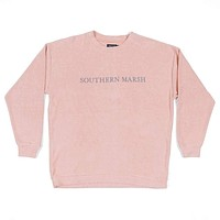 Sunday Morning Sweater in Camelia by Southern Marsh