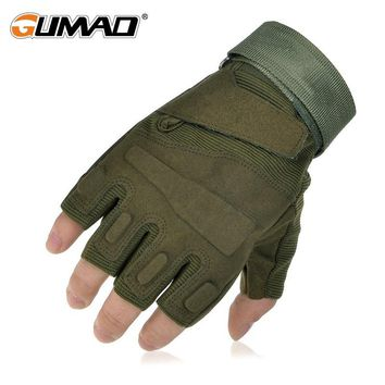Outdoor Military Tactical Glove Army Blackhawk Half Finger Glove Combat Hard Knuckle Hiking Hunting Climbing Cycling Riding