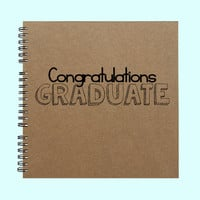 Congratulations Graduate - Book, Large Journal, Personalized Book, Personalized Journal, , Sketchbook, Scrapbook, Smashbook