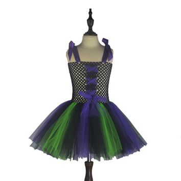 Halloween Carnival Witch Dress Child Costumes Festival Performance Dress Princes Girl Cosplay Tutu Vestido Clothing
