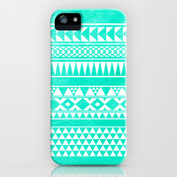 Urban Tribal Turquoise iPhone & iPod Case by hyakume