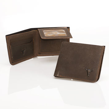 Men Leather Vintage Innovative Design Wallet [9026291011]