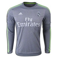 adidas Cristiano Ronaldo Real Madrid Long Sleeve Away Jersey 15/16 || SOCCER.COM