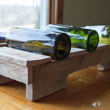 Pallet Wine Rack - Reclaimed Wood Wine Rack - Small Wine Rack - Countertop Wine Rack - Wine Storage - Rustic Wine Rack - Rustic Wedding