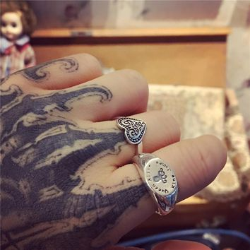 Punk Knuckle Ring Real 925 Silver Anillos Jewelry Vintage Minimalism Haut Femme Bague Femme Aneis Joyas Love Rings for Women