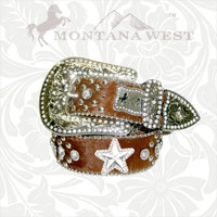 Montana West RL-B001SA Cowgirl Genuine Leather Belt