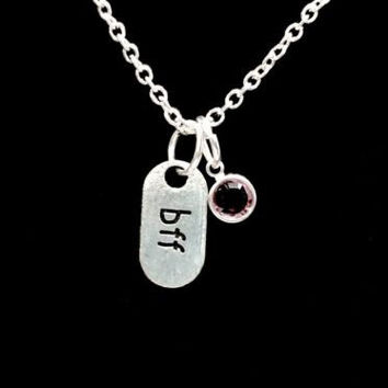 Birthstone Personalize BFF Gift Best Friend Friends Friendship Necklace
