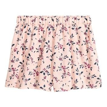 Patterned shorts - Light pink/Floral - Ladies | H&M GB