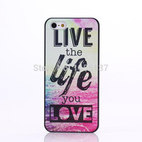 Chevron The Life You Live Design Hard Plastic Protective Phone Case Cover For iPhone 4 4S 5 5S 5C