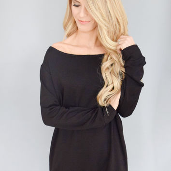 American Nights Black Comfy Top