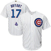 Chicago Cubs Kris Bryant #17 MLB Majestic Mens Cool Base Player Jersey Big And Tall Sizes