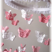 Butterfly Mobile, Baby Shower Gift, Nursery Decor, Nursery Mobile, Crib Mobile, Baby Mobile