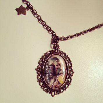 Star Wars Boba Fett Cameo Necklace  by RabbitJewellery on Etsy