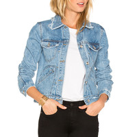 DEREK LAM 10 CROSBY Toby Classic Jean Jacket in Light Denim | REVOLVE