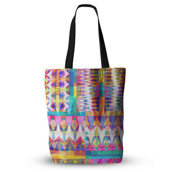 "Miranda Mol ""Triangle Collage"" Pastel Geometric  Everything Tote Bag"