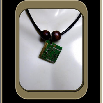 Geek gift ideas, Computer Tech gifts, Circuit bord jewelry, couples jewelry, mens jewelry, circuit board necklace,computer jewelry,
