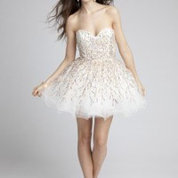 Prom Dresses 2013 - Short Tulle Dress with Multi-Color Sequins from Camille La Vie and Group USA