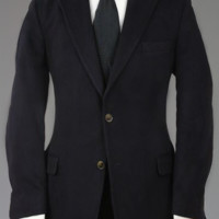 Vintage 60s Lords of London Dark Navy 100% Cashmere Blazer/Jacket 42 L Monkey Suit