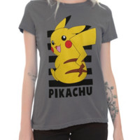 Pokemon Pikachu Stripes Girls T-Shirt