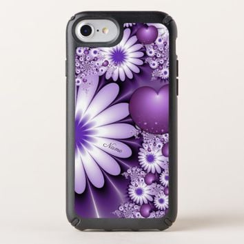 Falling in Love Abstract Flowers & Hearts Name Speck iPhone Case