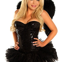 Sexy Sequin Naughty Angel Costume