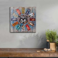 Amazing Multicolor Wood Clock By Benzara