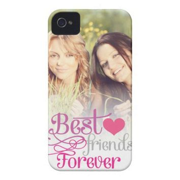 BFF - Fashion Best Friends Forever with Photo Iphone 4 Case-mate Cases from Zazzle.com