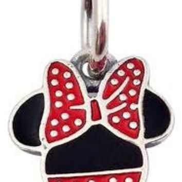 Authentic Pandora Disney Parks Minnie Mouse Icon Dangle Charm Bead