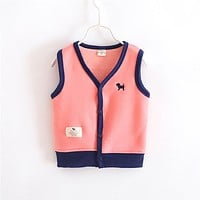 Boys Girls Vest Baby Boys Jackets Baby Girls Coats Children's Jacket Spring Autumn Fashion Cotton Outwear Kids 1-5years Clothes