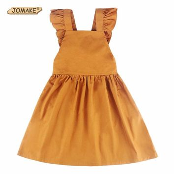 Summer Princess Costume For Kids Girls Dress Bow Girl Backless Tutu Dress Sleeveless Solid Party Dresses 2017 Children Clothing