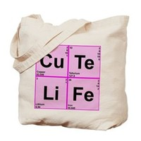 Periodic Table Words Tote Bag> CuTe LiFe> Periodic Nerds