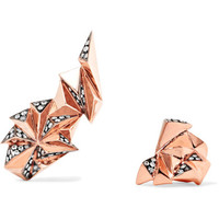 Diane Kordas - Eclipse 18-karat rose gold diamond ear cuff