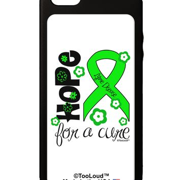 Hope for a Cure - Lime Green Ribbon Lyme Disease - Flowers iPhone 5C Grip Case  by TooLoud