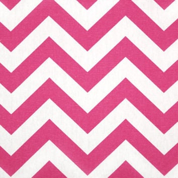 Premier Prints Fabric Zig Zag Chevron in Candy Pink and White - Half Yard