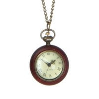 LOVEsick Wood Pocket Watch Necklace