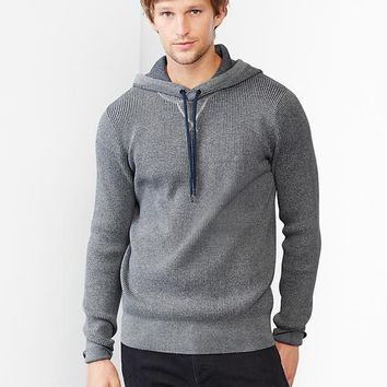 Waffle Pullover Sweater Hoodie