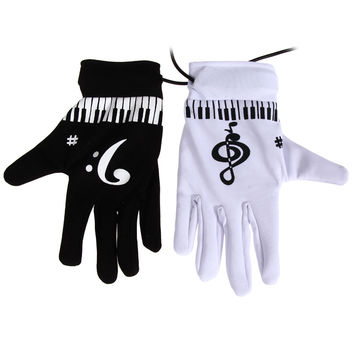Electronic Piano Gloves Fingertips Piano Musical Gloves Novelty Exercise Instrument Keyboard Musical Electronic Games for Adults SN9
