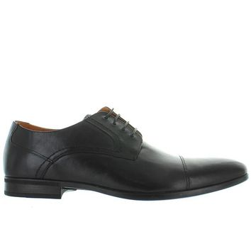 Florsheim Burbank Cap Ox - Black Leather Cap Toe Oxford